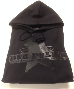Image of Dub Police Black on Black Hoodie