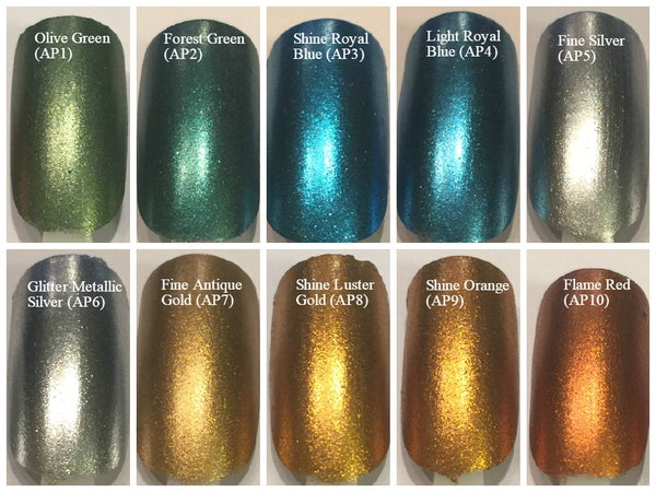 Image of Aluminum Powders <p> 12 Colors Available