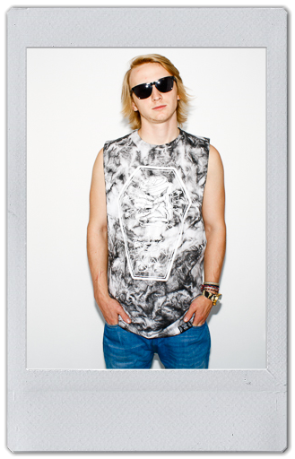 Image of GREY/WHITE TIE DYE TANK TOP