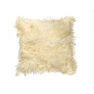 Image of 676685006882 Natural-MONGOLIAN SHEEPSKIN PILLOW-NATURAL