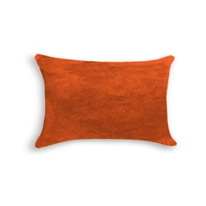 Image of 676685025593 Natural-TORINO-COWHIDE-PILLOW-ORANGE