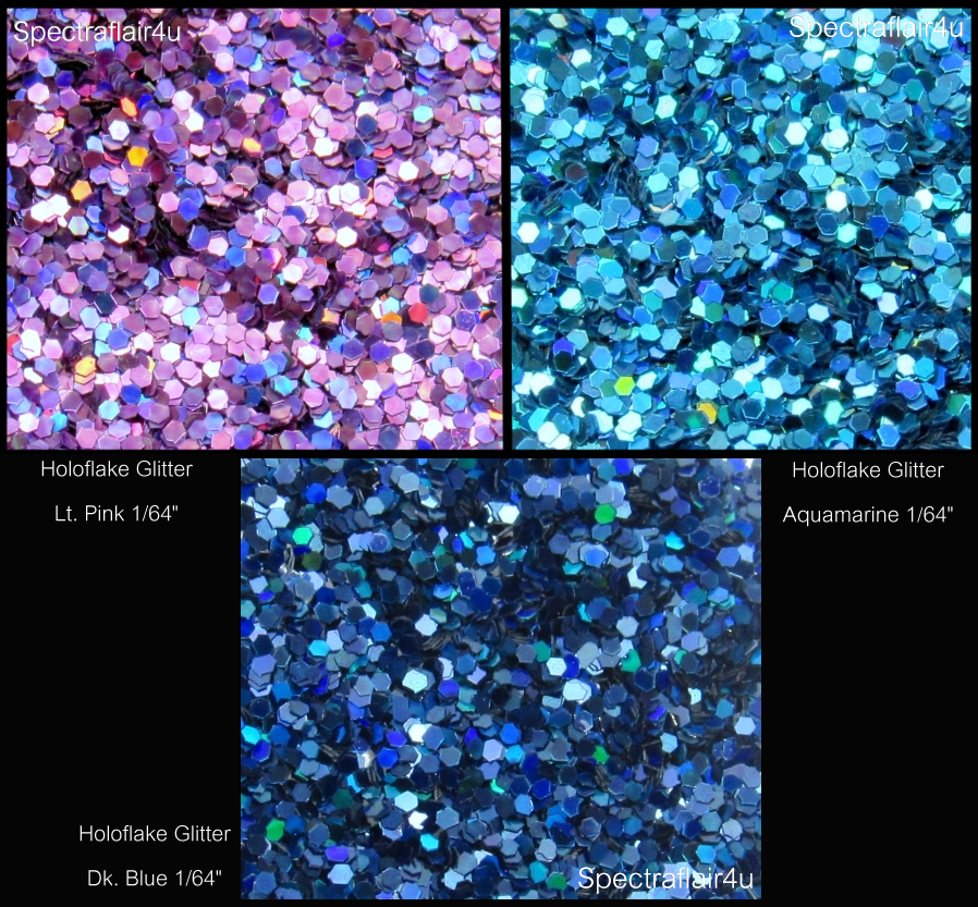 "Image of Holoflake Glitters  <p> .015"" (1/64"") </p> 3 Colors Available"