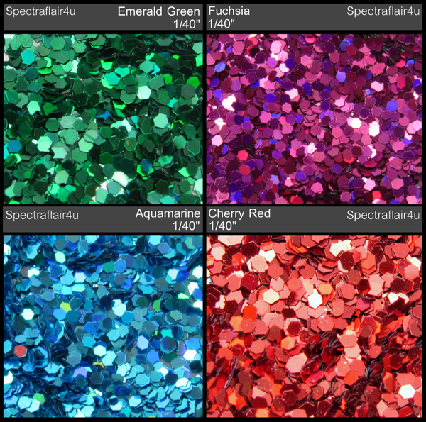"Image of Holoflake Glitter  <p> .025"" (1/40"") </p> 4 Colors Available"