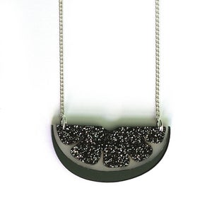 Image of Glitter Citrus Slice Necklace