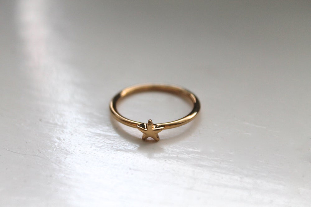 Image of Tiny Gold Star Stacking Ring (Originally $8)