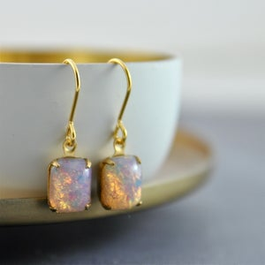 Image of Ignis - Fire Opal Earrings