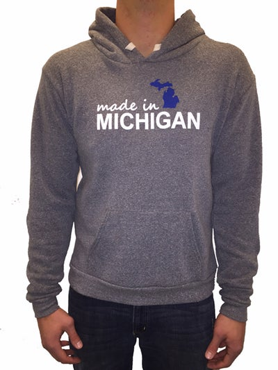 Image of Made In Michigan Unisex Hooded Sweatshirt
