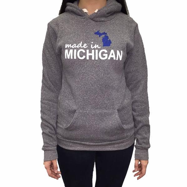 Image of Made In Michigan Unisex Hooded Sweatshirt