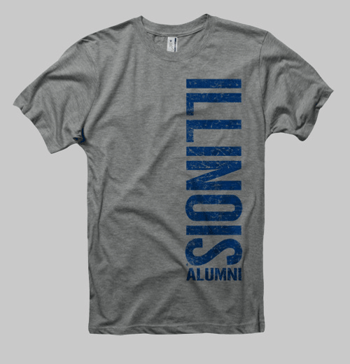 Image of Illinois Left Coast Alumni Tee - Heather Gray