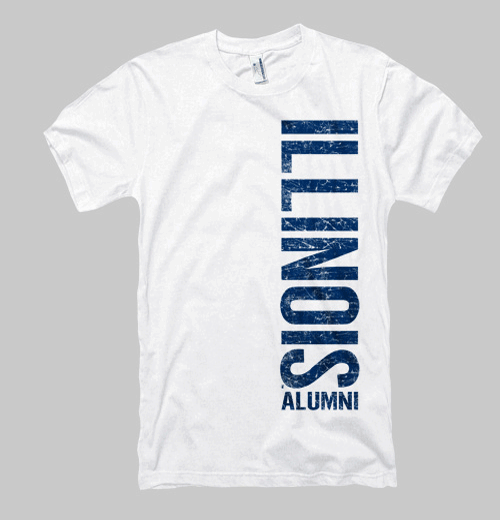 Image of Illinois Left Coast Alumni Tee - White