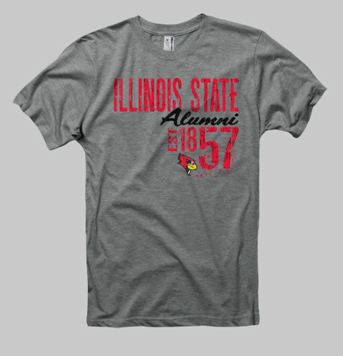 Image of Illinois State Neptune Alumni Tee - Heather Grey