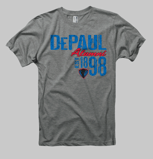 Image of Depaul Neptune Alumni Tee - Heather Grey