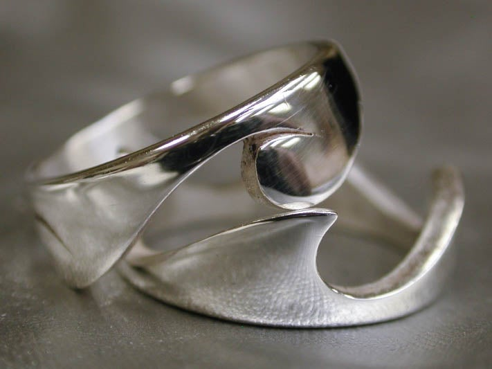 "Image of ""Two Piece Wave"" Ring - Sterling Silver"