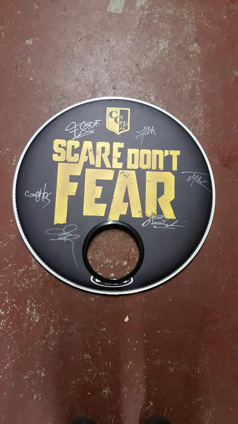 Image of Signed Kick Drum Head from Mushroom Head Tour