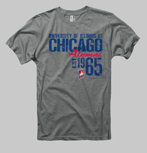 Image of Illinois-Chicago Neptune Alumni Tee - Heather Gray