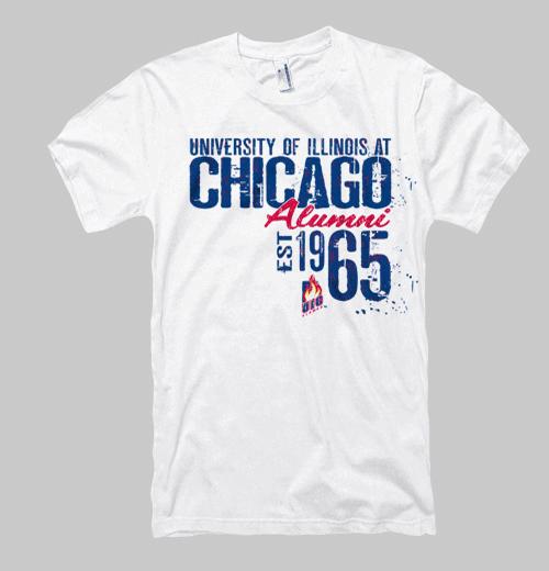 Image of Illinois-Chicago Neptune Alumni Tee - White