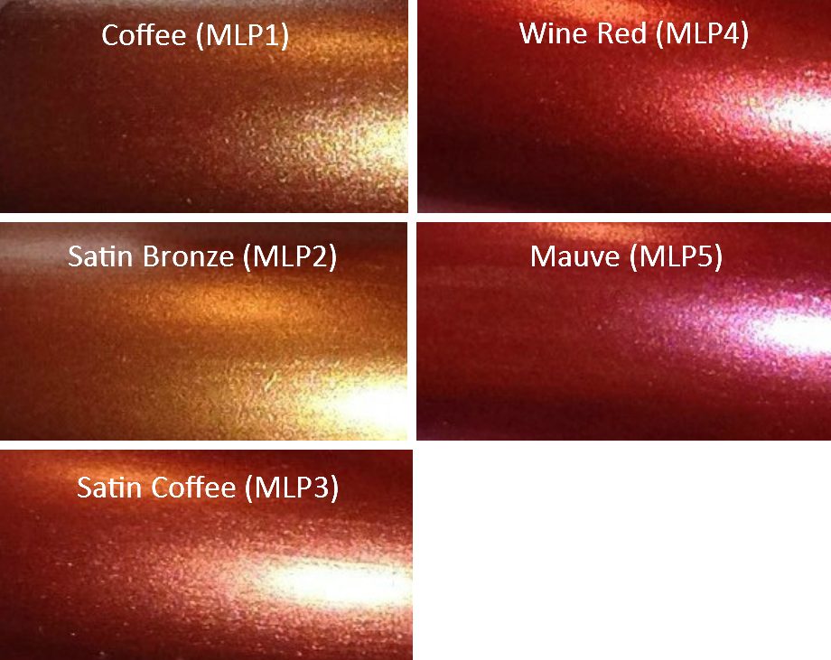 Image of Metallic Luster Pearl Pigments </p> 5 Colors Available