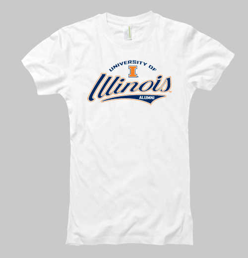 Image of Women's Illinois Splendid Alumni Tee - Navy