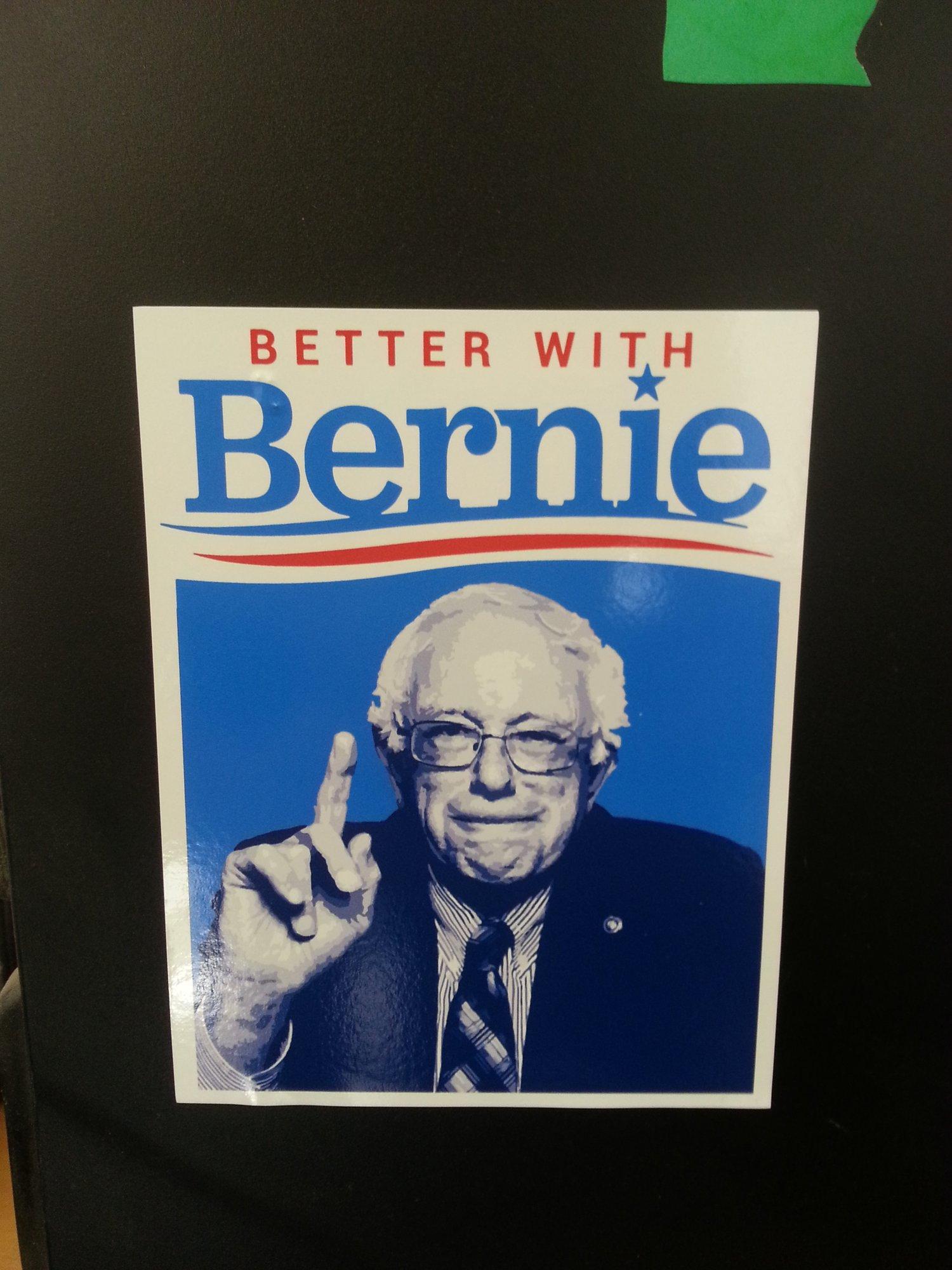 "Image of Better with Bernie Sticker - Bernie Sanders 2016 Decal - 5"" x 4"""