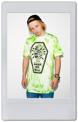 Image of GREEN TIE DYE T-SHIRT