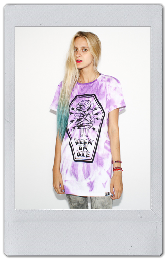 Image of PURPLE TIE DYE T-SHIRT