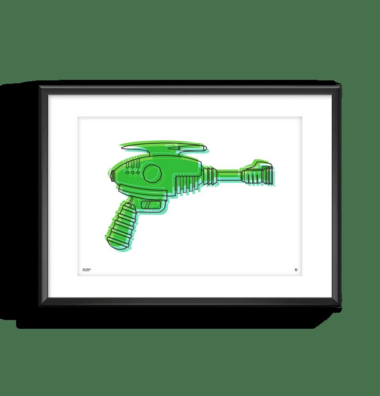 Image of Alien Blaster Print