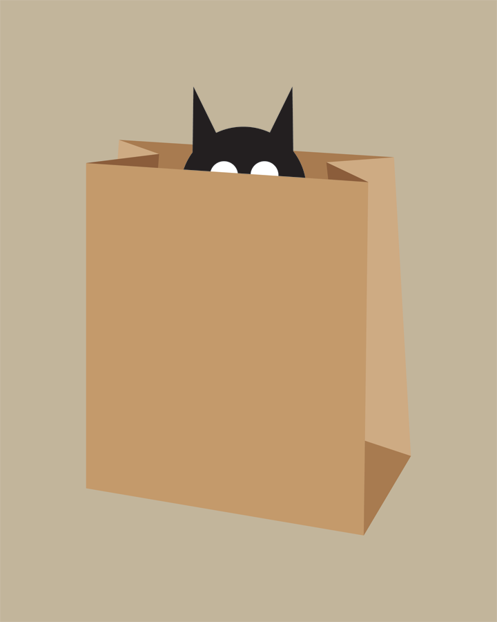 Image of Cat in Bag Collection