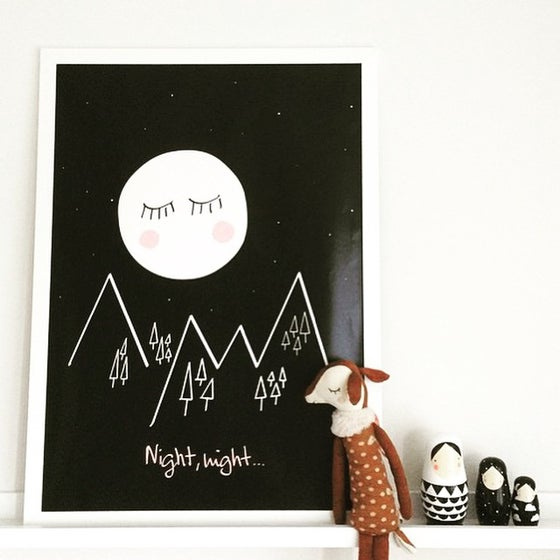 "Image of Póster ""Night night"""
