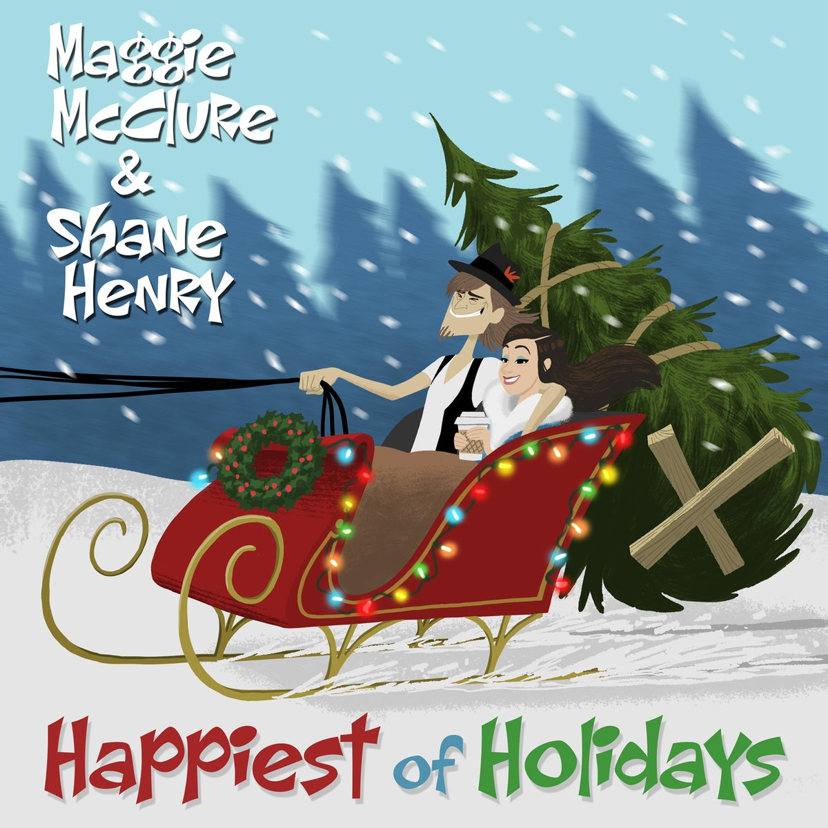 "Image of ""Happiest of Holidays"" Signed EP by Maggie McClure & Shane Henry + Custom Ornament"