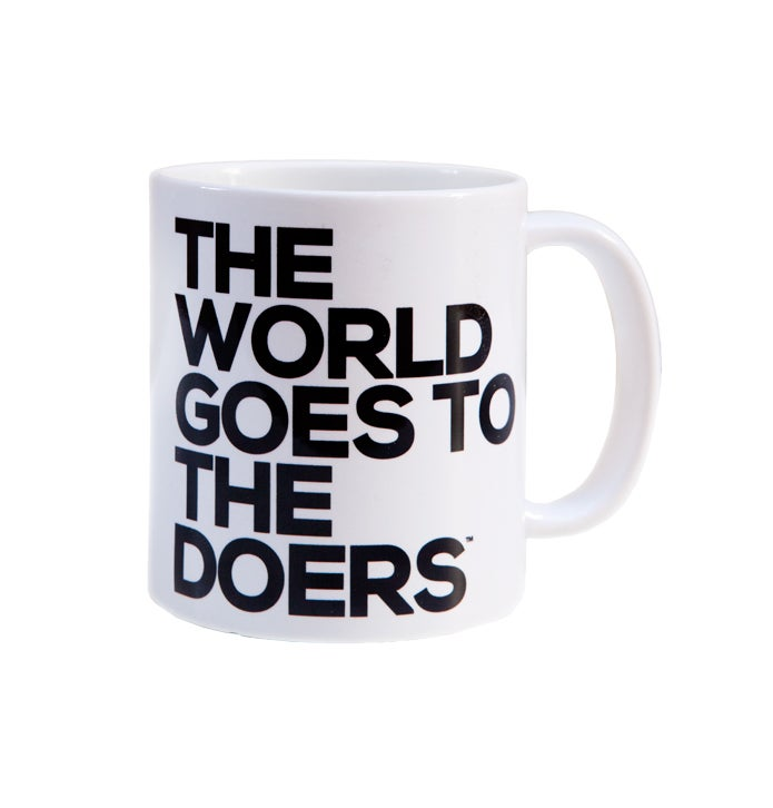 Image of The World Goes to The Doers 11 oz. Mug