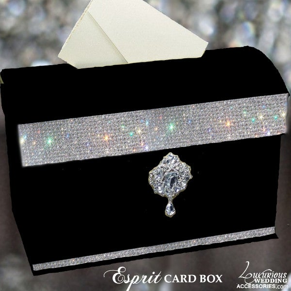 Image of Esprit Crystal Embellished Wedding Card Box