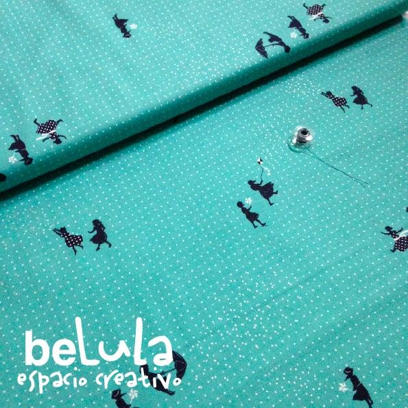 Image of Tela algodón patchwork: Niños paraguas Cotton and Steel