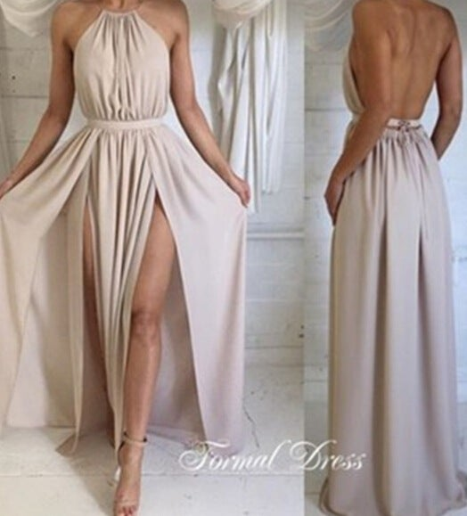 Image of Sexy backless sleeveless dresses VAK83TF