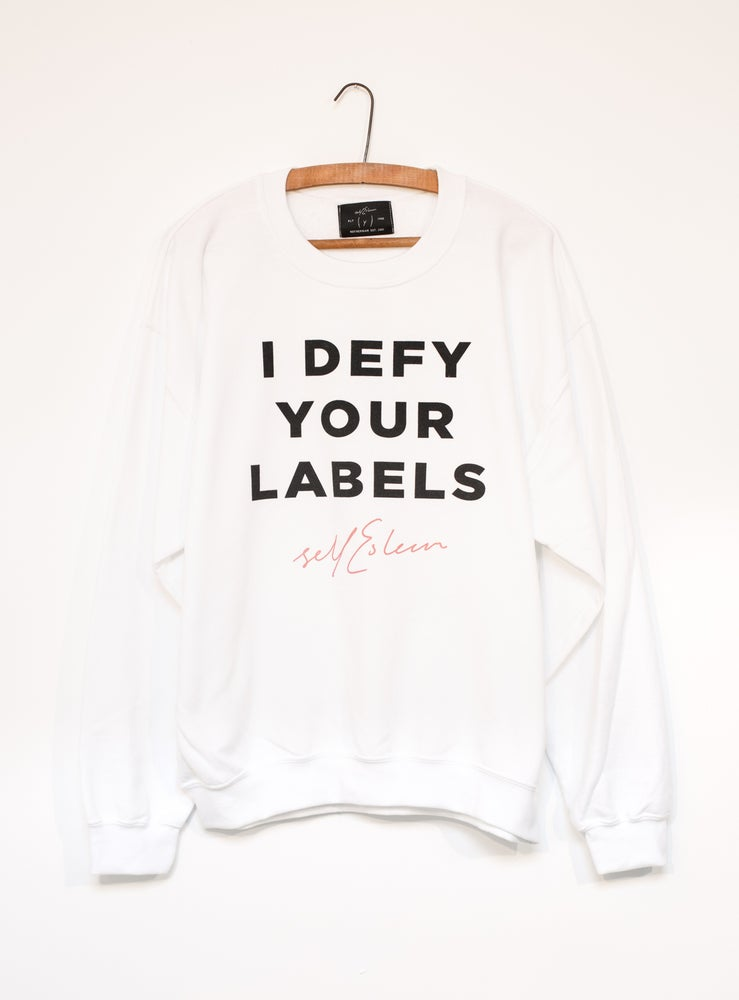 Image of I DEFY YOUR LABELS SWEATER