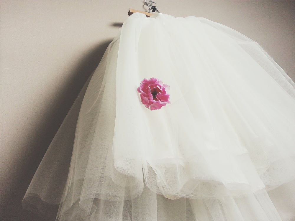 Image of Misses Tea Length Tulle Skirt