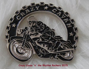 Image of NEW! - CRAZY CAVAN BIKER BADGE