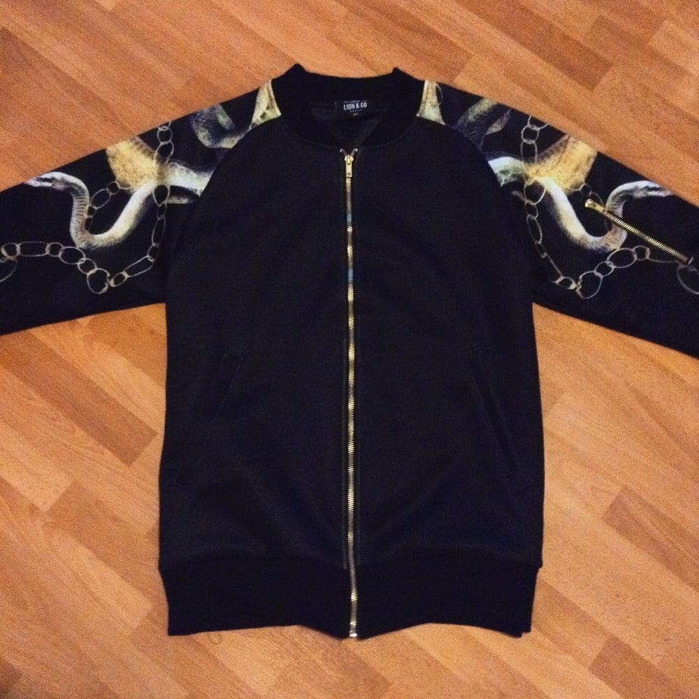 Image of Chain snake bomber jacket