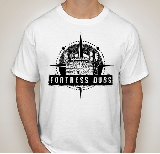 Image of WHITE Fortress Dubs Logo Tee