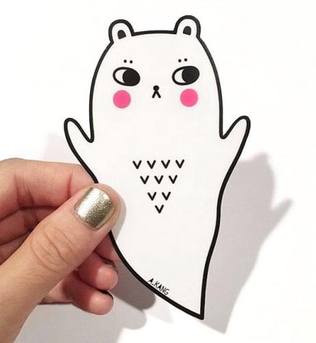 Image of Boo Bear Sticker