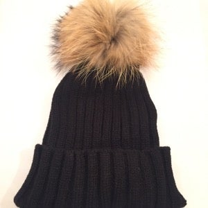 Image of PomPom Knit Beanie