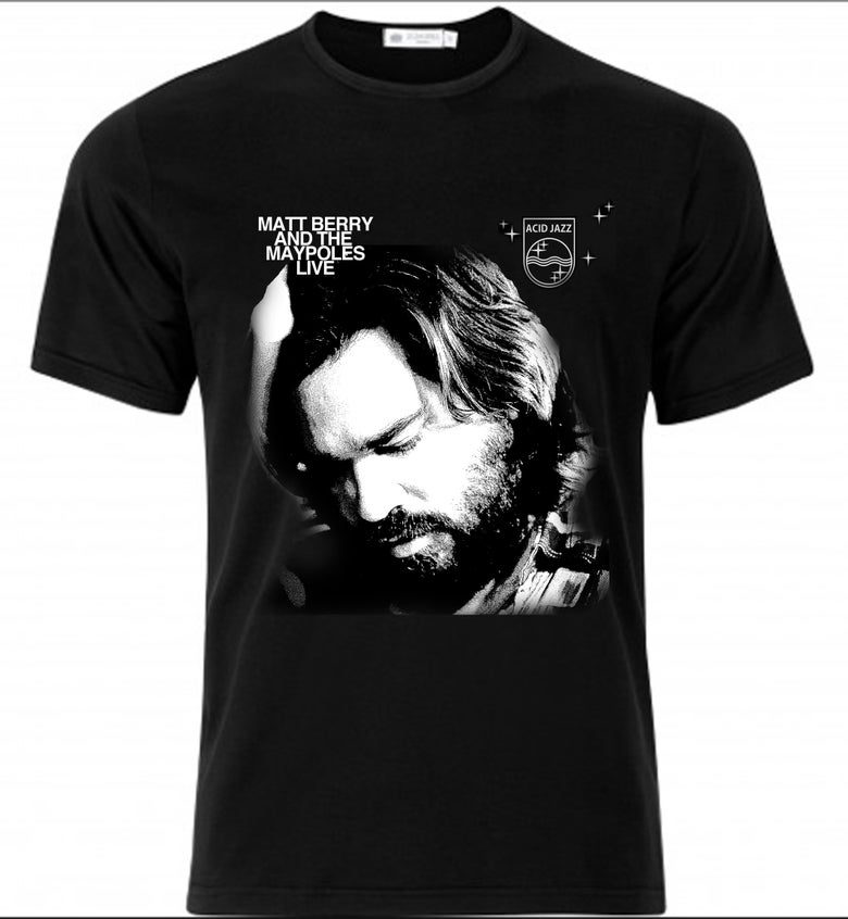 Image of Matt Berry & The Maypoles - Black Album T-Shirt