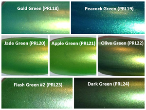 Image of Green Pearl Pigments <p> (5 gr.) </p> 15 Colors Available