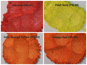 Image of Yellow/Orange Pearl Pigments <p> (5 gr.) </p> 8 Colors Available