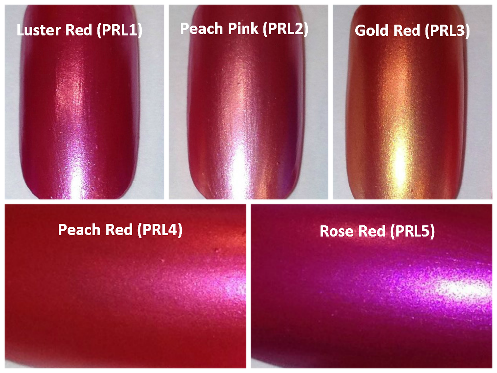 Image of Red/Pink Pearl Pigments </p> 21 Colors Available