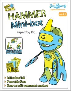 "Image of ""Hammer"" Mini-Bot | Pre-Cut Paper Kit"