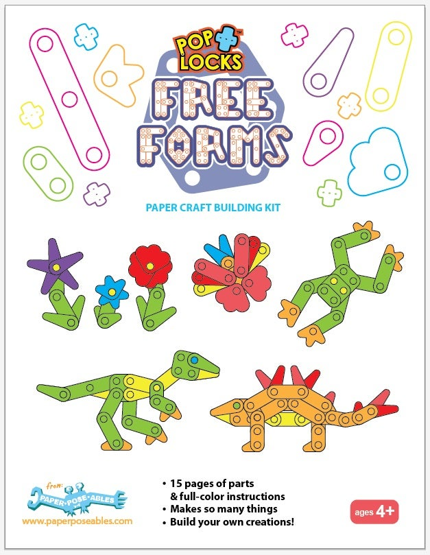 Poplocks Free Forms Pre-Cut Paper Craft Building Kits