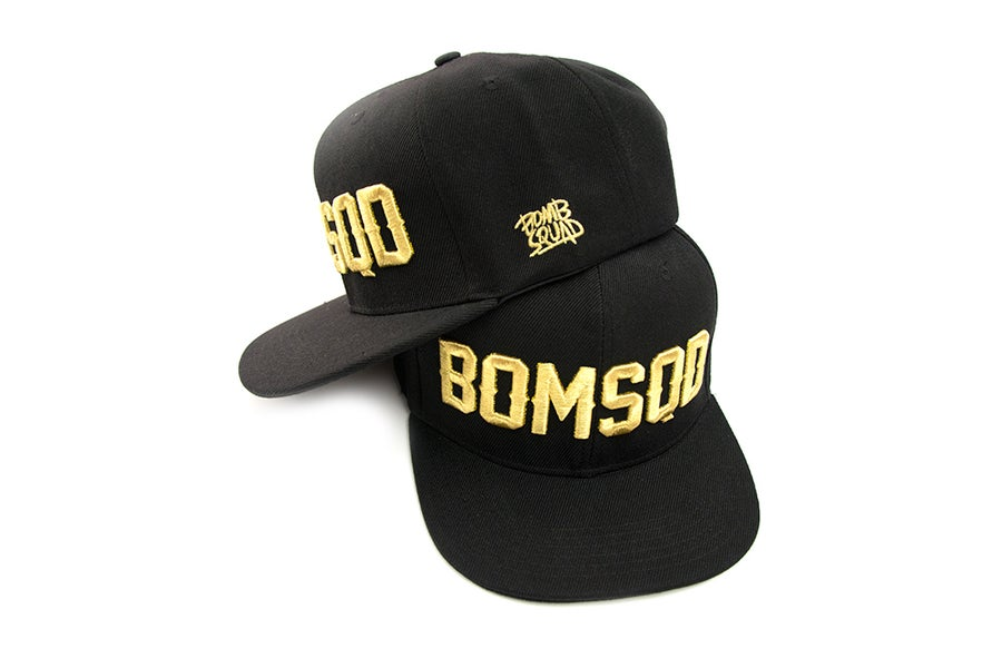 Image of BOMSQD Snapback - Black & Gold