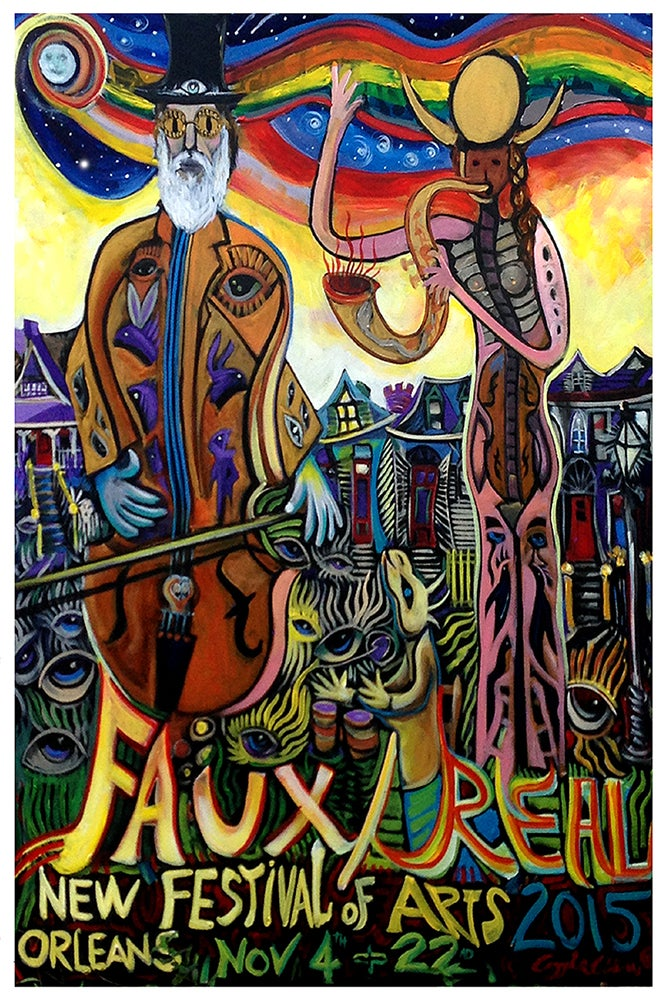 Image of Faux/real 2015 Festival Poster