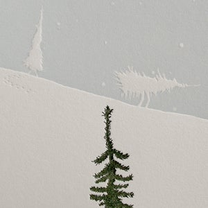 Image of Evergreen 'Walking Trees' - Letterpress Christmas card