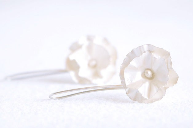Image of Belle saison, Earrings in Fairmined silver